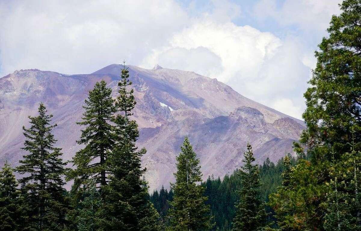 Images of Mount Shasta taken this week.