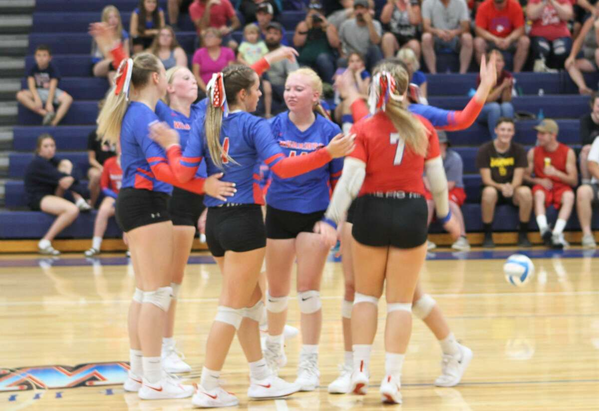 The Chippewa Hills volleyball team began its season Tuesday night with a win over Shepherd.