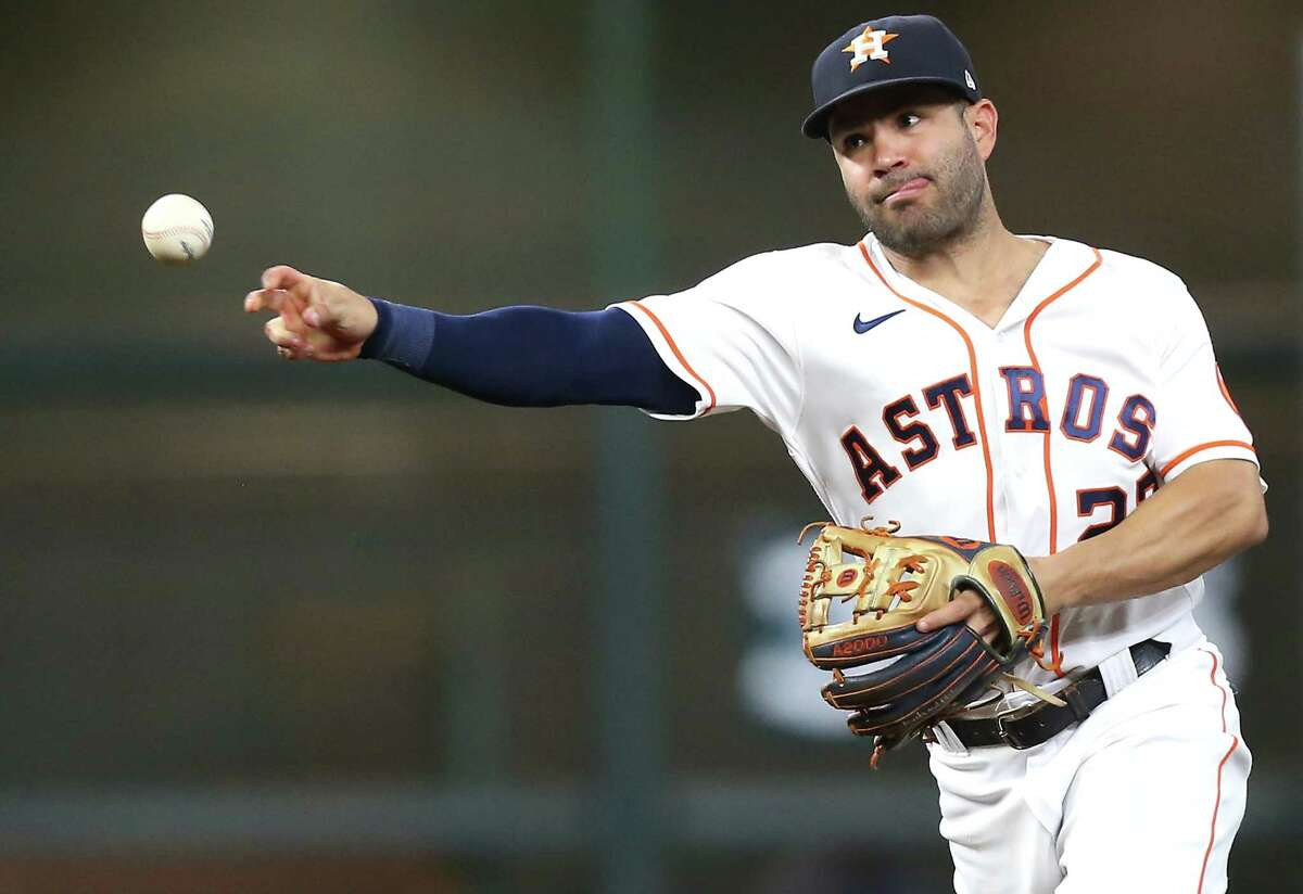 Jose Altuve's day off Friday will delay the Astros' return to their near-full opening day lineup.