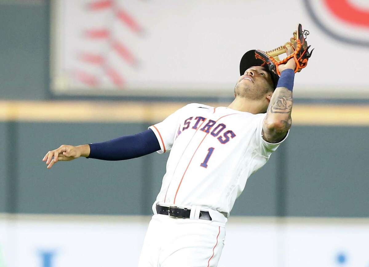 Astros shortstop Carlos Correa was given a planned day off Sunday against the Rangers.