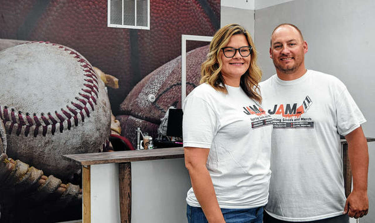 Amanda and Jimmy Maltby own JAM Ink. Sporting Goods and Merch. The store now is open for online orders and they plan to have a grand opening around Oct. 18.