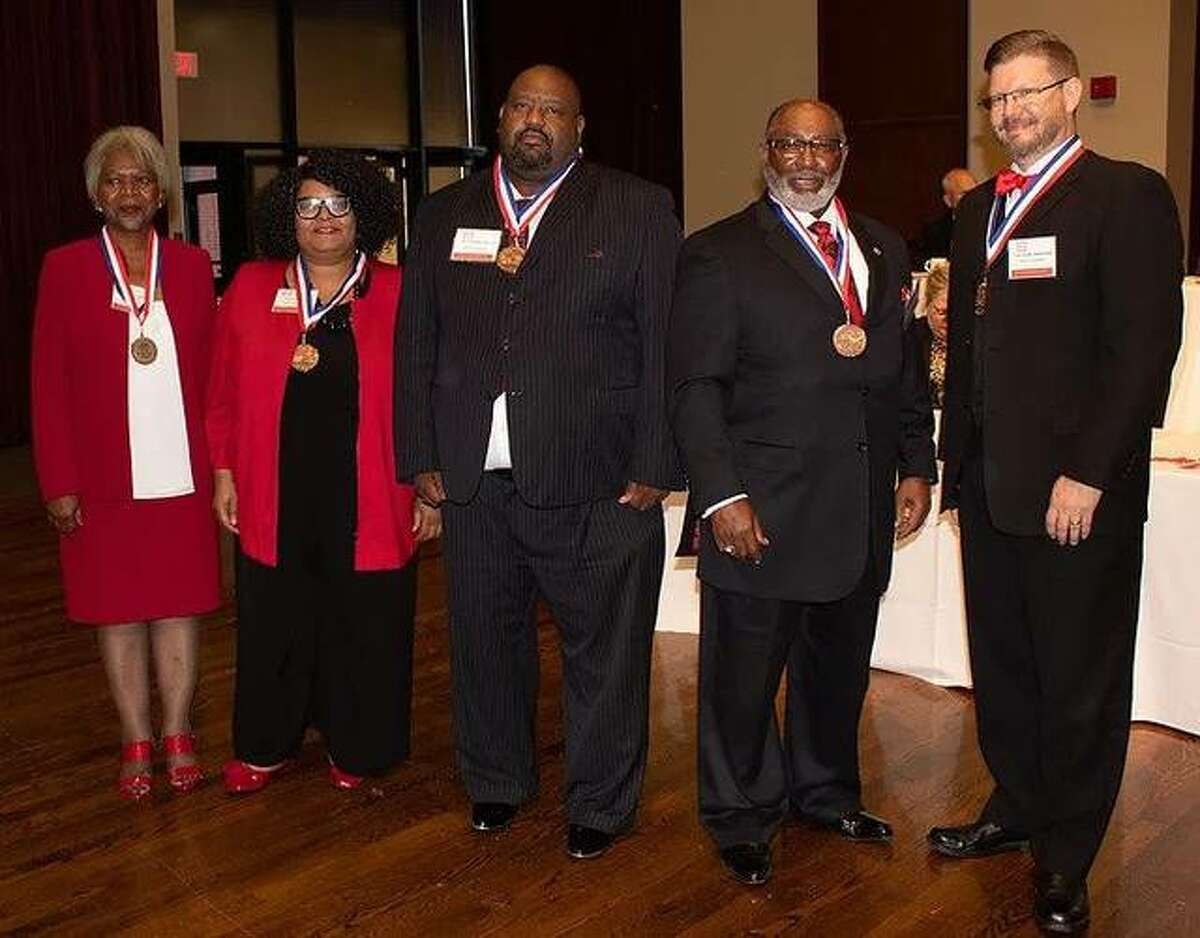 Some of the honorees from the Metro Area Professional Organization's Honors Dinner Celebration in 2019.