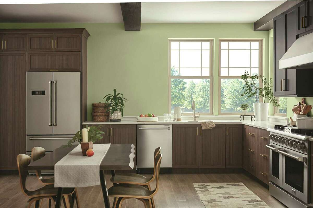"""""""Olive Sprig"""" is PPG's 2022 Color of the Year."""