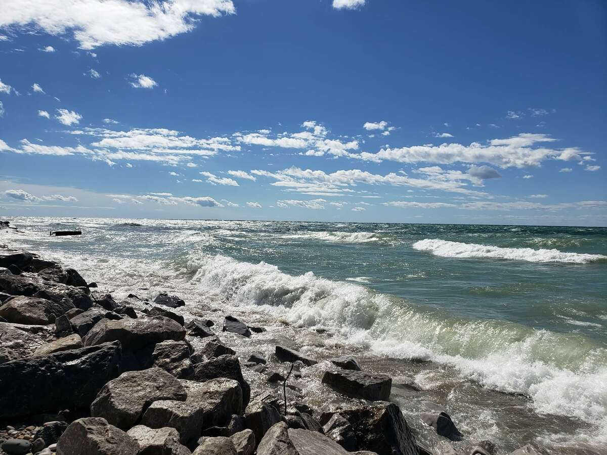 Bar Lake Outlet Beach in Manistee Township.
