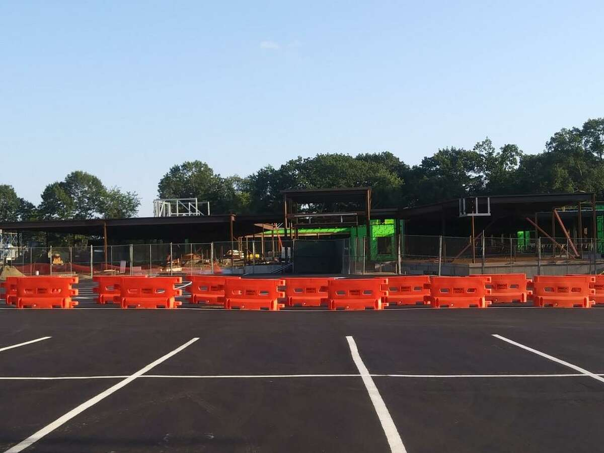 Ox Ridge School will open for students Aug. 30 as construction on the new structure continues on site. Darien schools are opening for the 2021-22 school year on Aug. 30.