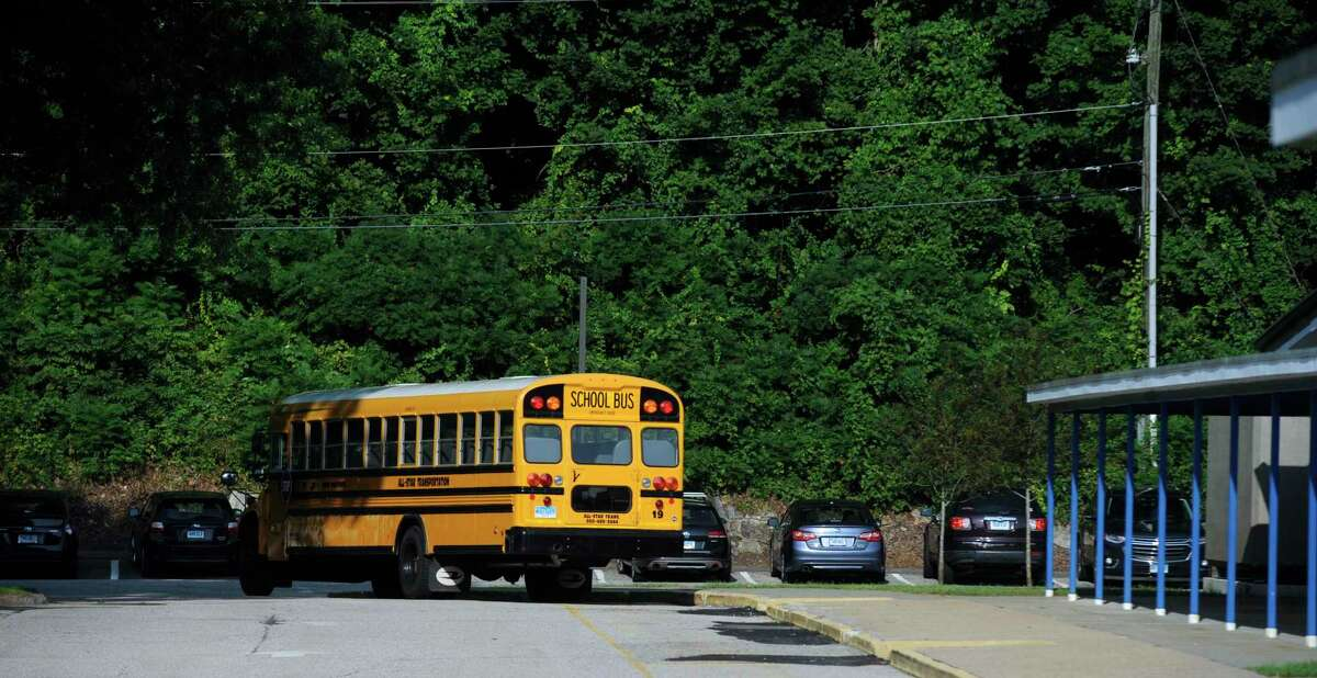 First day of the new school year at Hill and Plain Elementary School, New Milford, Conn. Wednesday, August 25, 2021.
