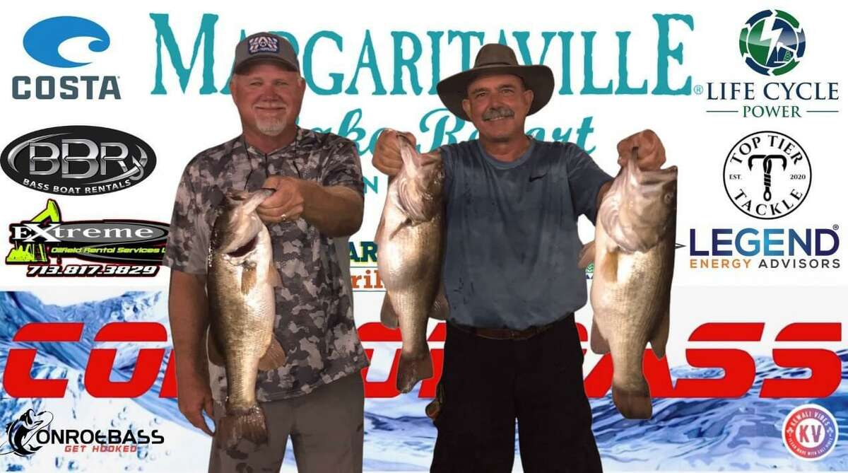 Randy Gunter and Mickey Mueller came in first place in the CONROEBASS Tuesday Tournament with a weight of 18.86 pounds.