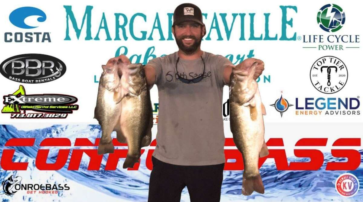 Taylor Robbins and Adam Dunn came in second place in the CONROEBASS Tuesday Tournament with a weight of 12.38 pounds.