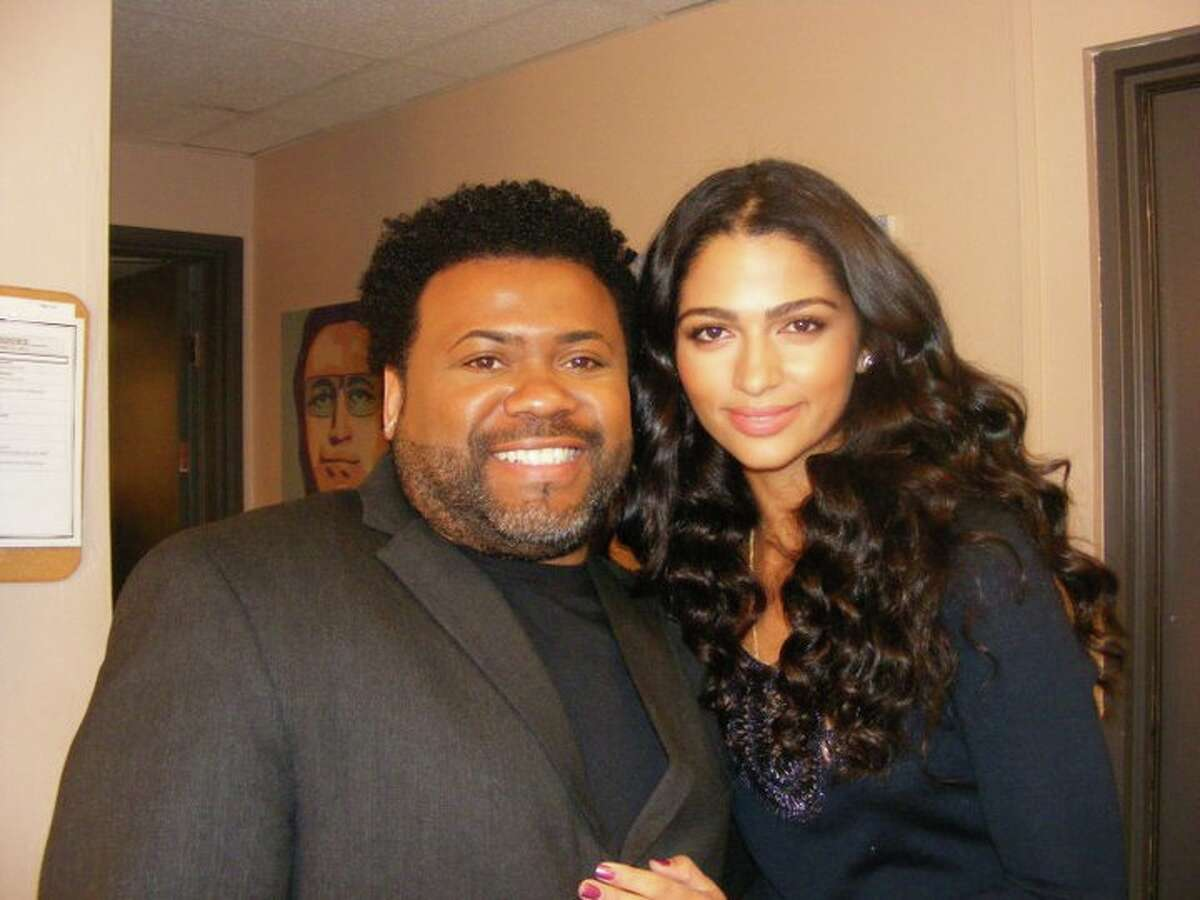 Houston makeup artist Monsieur Walzer and Camila Alves McConaughey.