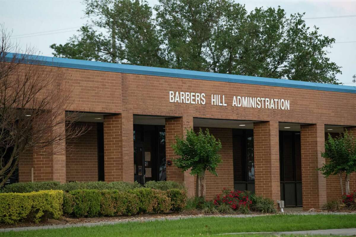 Barbers Hill Administration building, Monday, April 26, 2021, in Mont Belvieu.