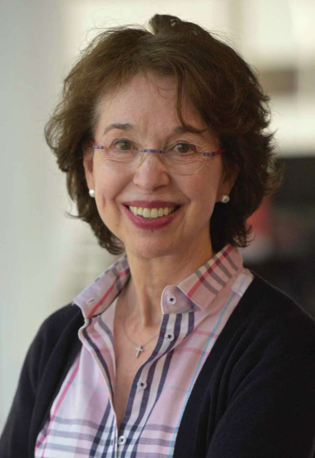 Barbara Dalio, Dalio Philanthropies' public education initiative, during an interview with Hearst Connecticut Media, in Norwalk Conn, on Monday, March 2, 2020.