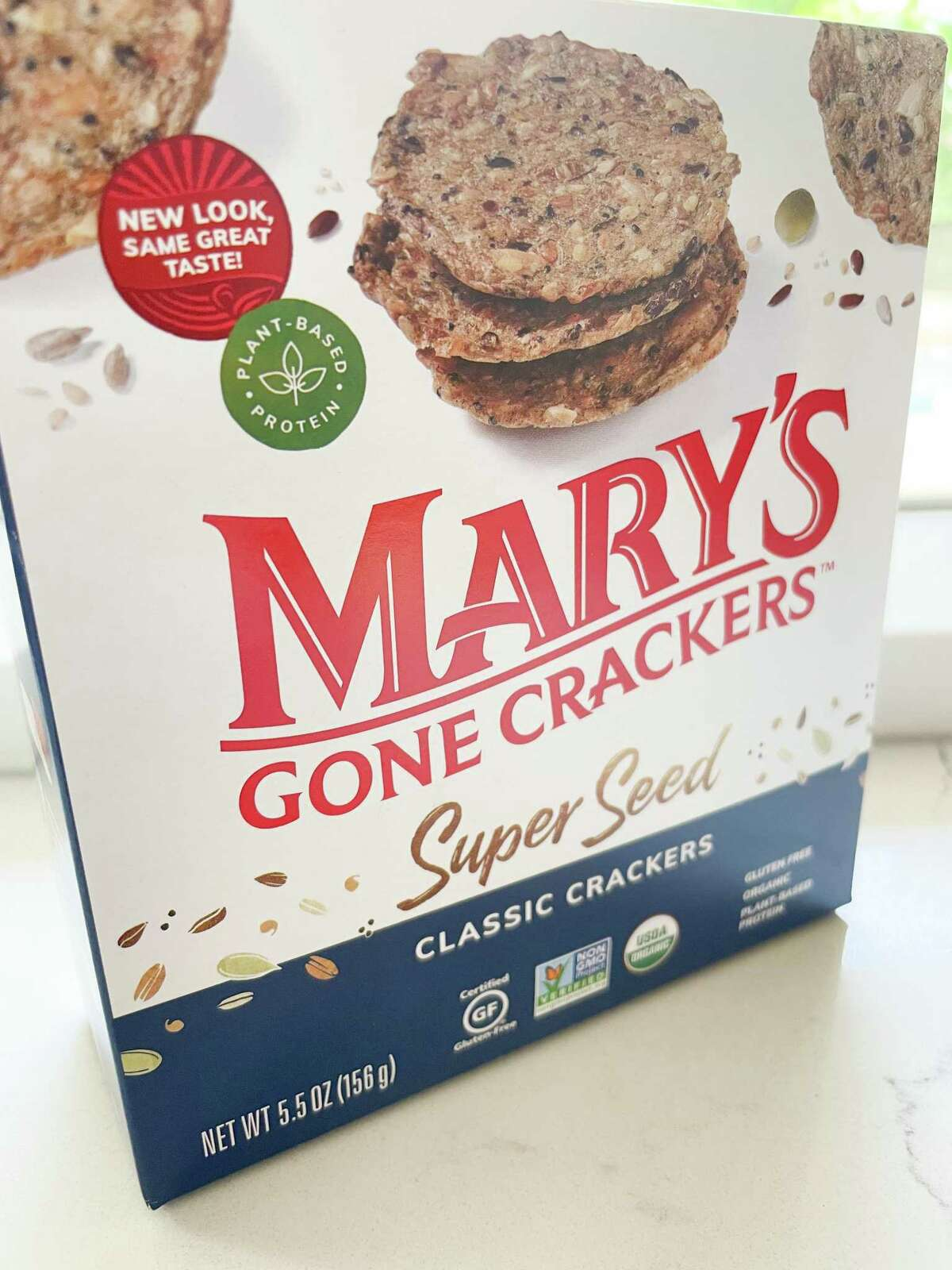 Mary's Gone Crackers are a tasty base for hummus.