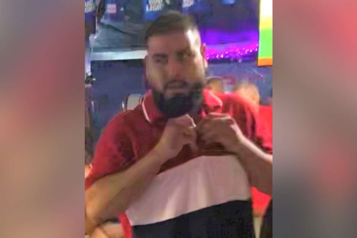 San Antonio police are searching for a second suspect in connection with a fatal shooting at a sports bar on the East Side on Aug. 15. Police released this photo of the man they believe was involved.
