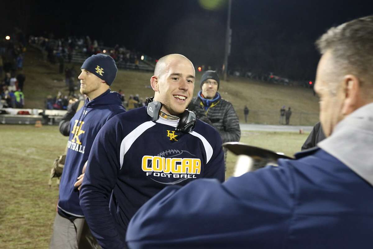 Haddam-Killingworth coach Tyler Wilcox is entering his first season as the Cougars' coach.