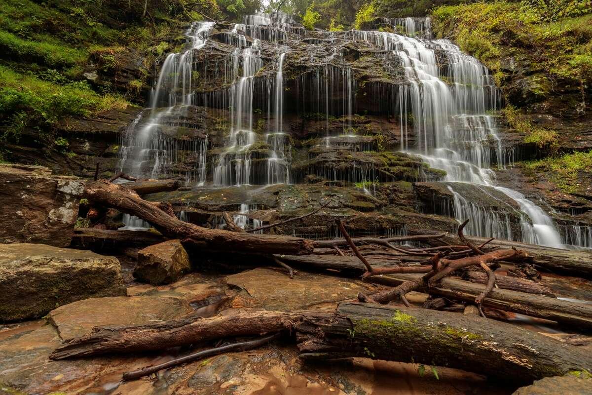Waterfalls and trails outside Walhalla, South Carolina