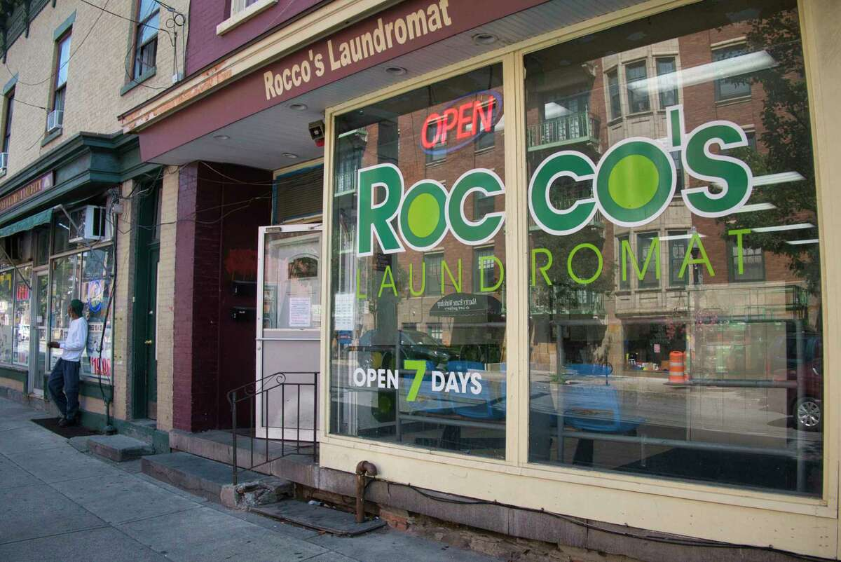 A view of Rocco's Laundromat on Lark St. on Wednesday, Aug. 25, 2021, in Albany, N.Y.