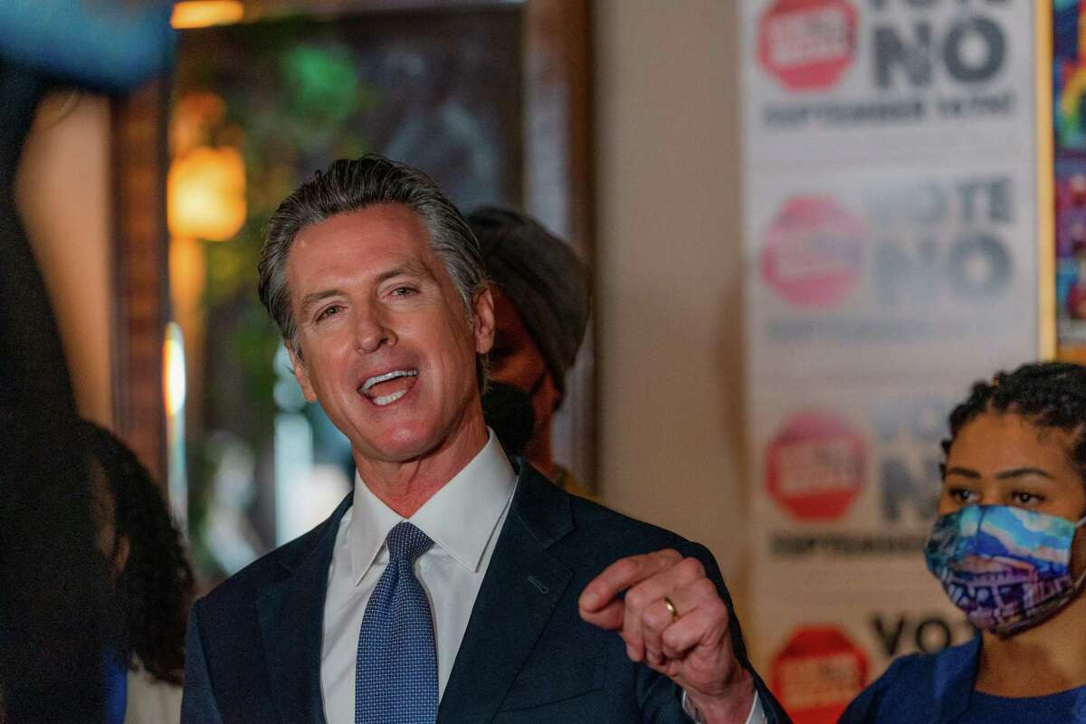 Polling models suggest California Gov. Gavin Newsom may be in for a close race.