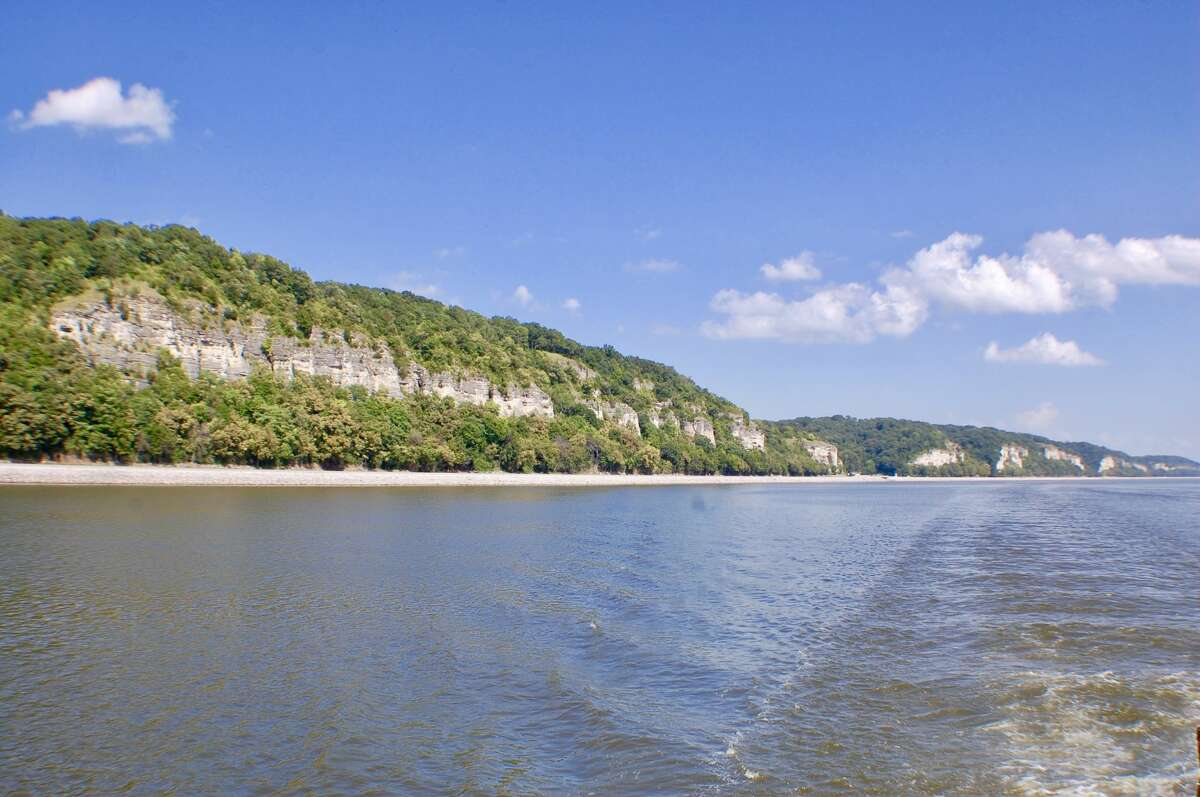 The beautiful bluffs along the Mississippi River between Alton and Grafton,