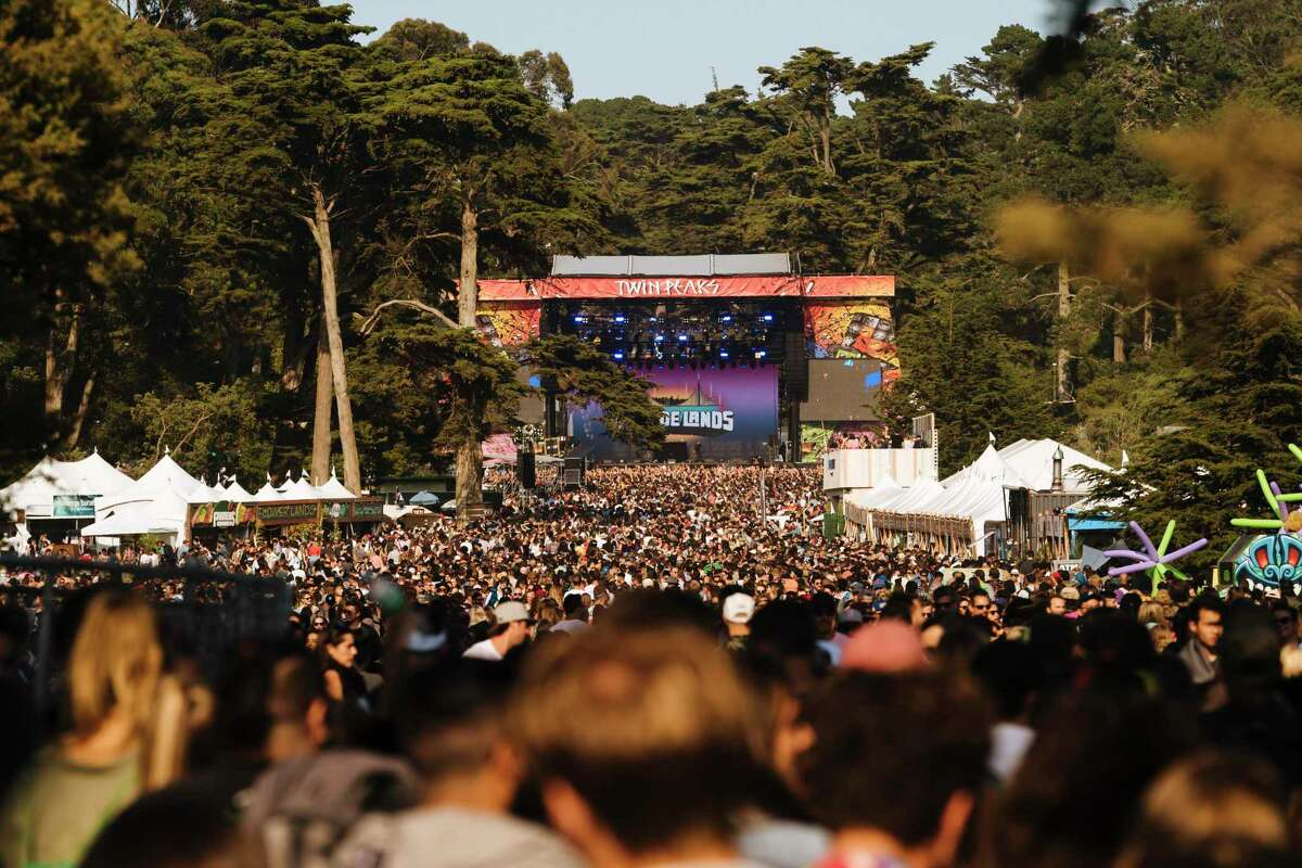 Organizers of the Outside Lands Music and Arts Festival in Golden Gate Park, shown in 2018, will require proof of vaccination or a negative test to attend this year's event.