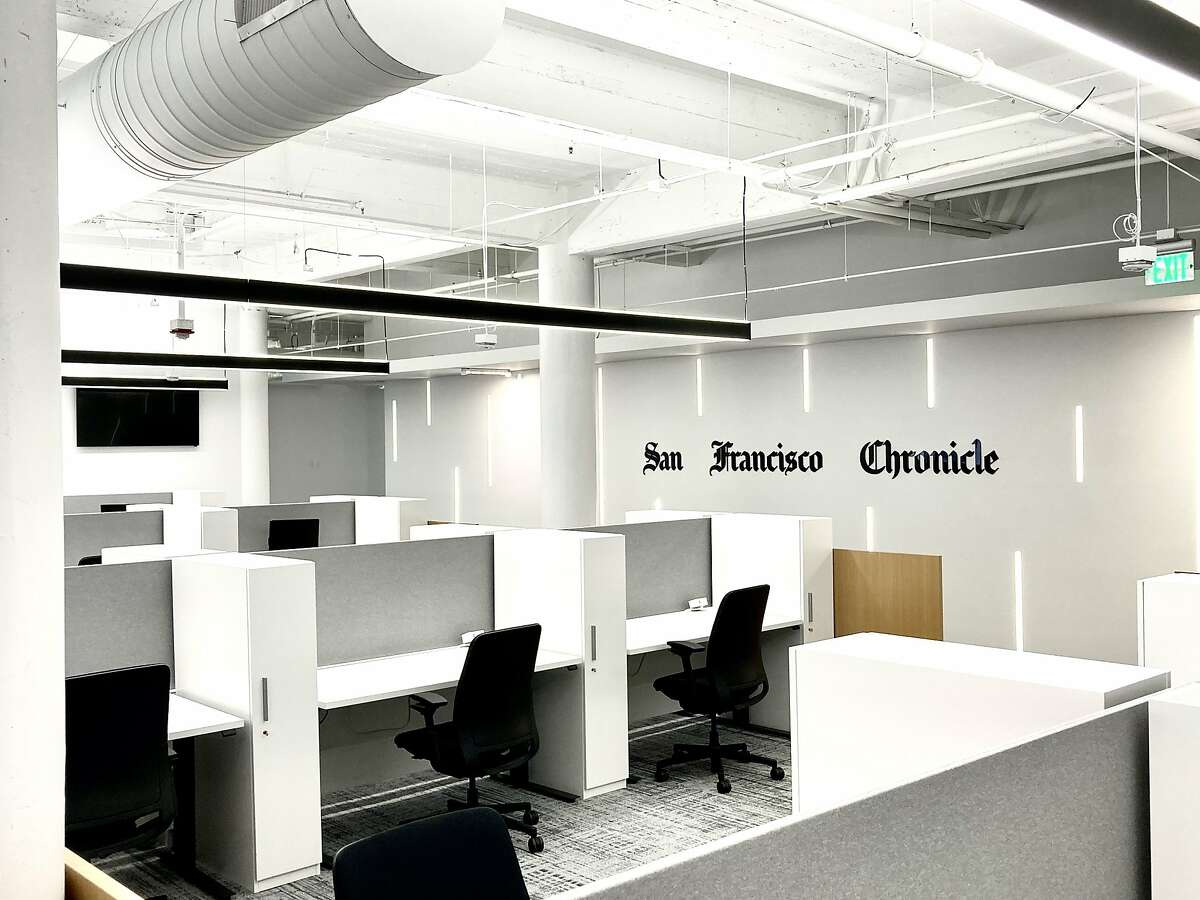 The San Francisco Chronicle newsroom on August 24, 2021, after a major remodel.