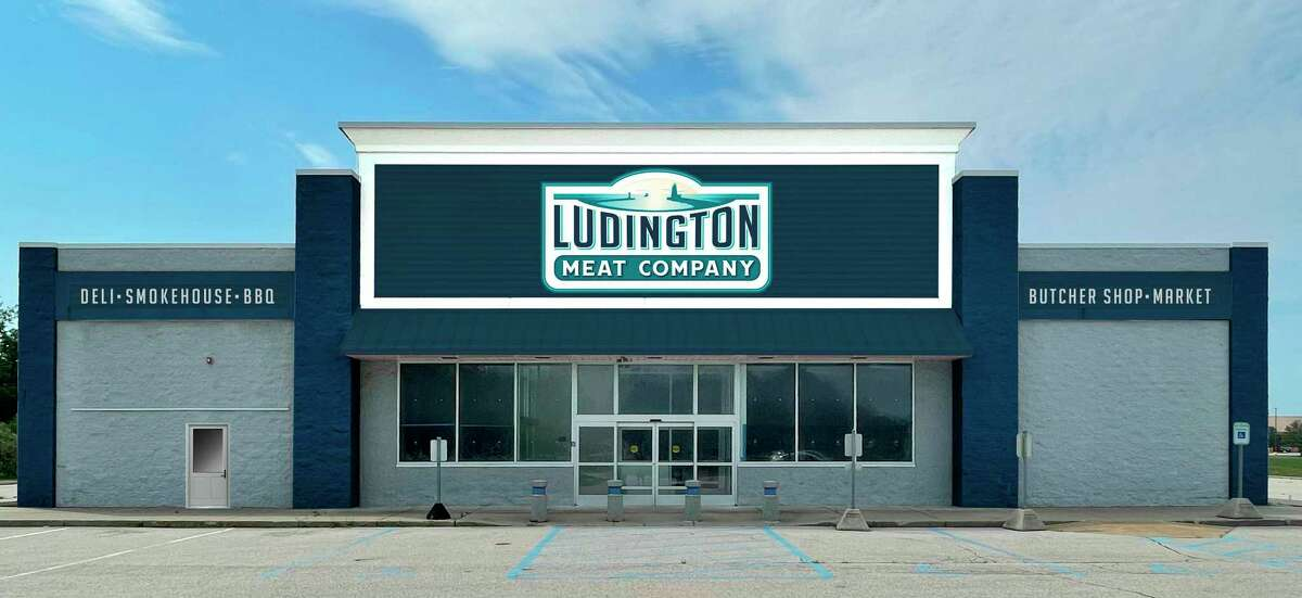 Pictured is an artist's rendering of what the Ludington Meat Company will look like when renovations are complete. The business will be located in the former Staples, located on U.S. 10 in Ludington. (Courtesy rendering)