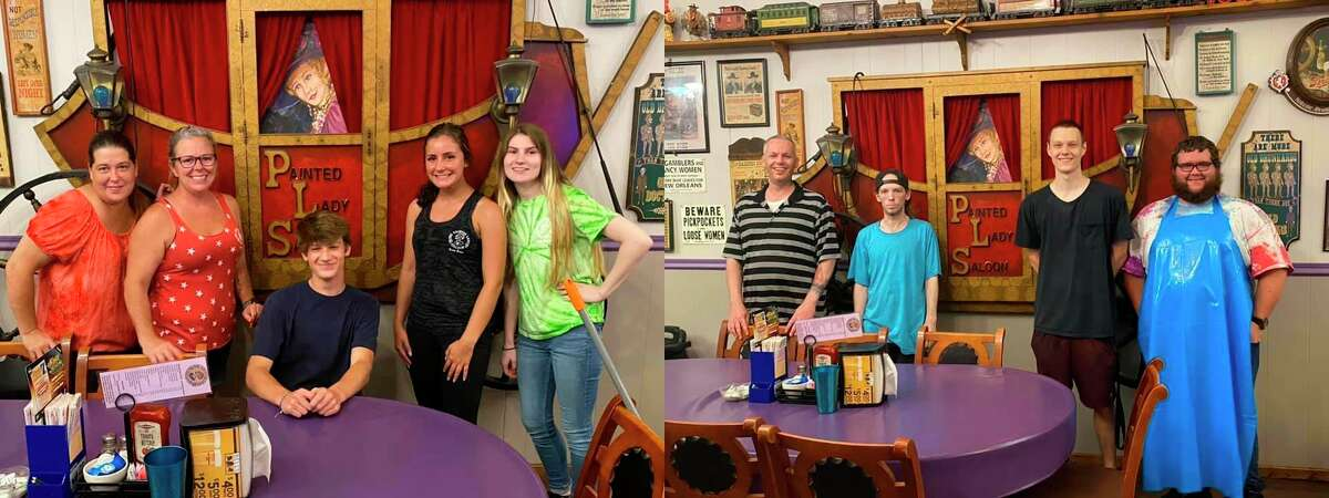 Staff at the Painted Lady Saloon in Manistee split a $1,000 tip they received earlier this week. (Courtesy Photo)