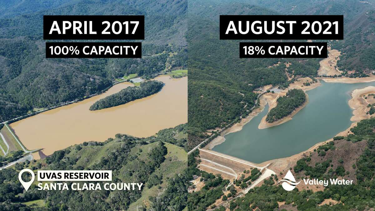 Water levels at several Bay Area reservoirs have reached historical lows.