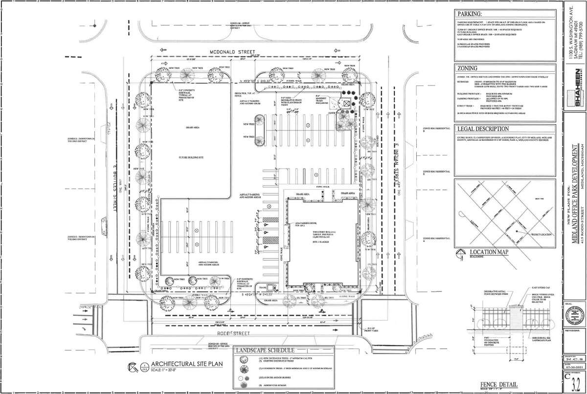 Courtesy of Shaheen Development :: Site plan of new downtown office space located at 415 Rodd St.