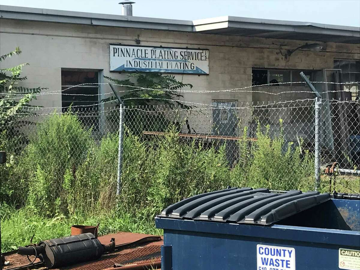 The former plate making building on Aug. 25, 2021 at 911 11th St. in Watervliet at the Perfection Plating site that the state Department of Environmental Conservation plans to do superfund work at starting in September.