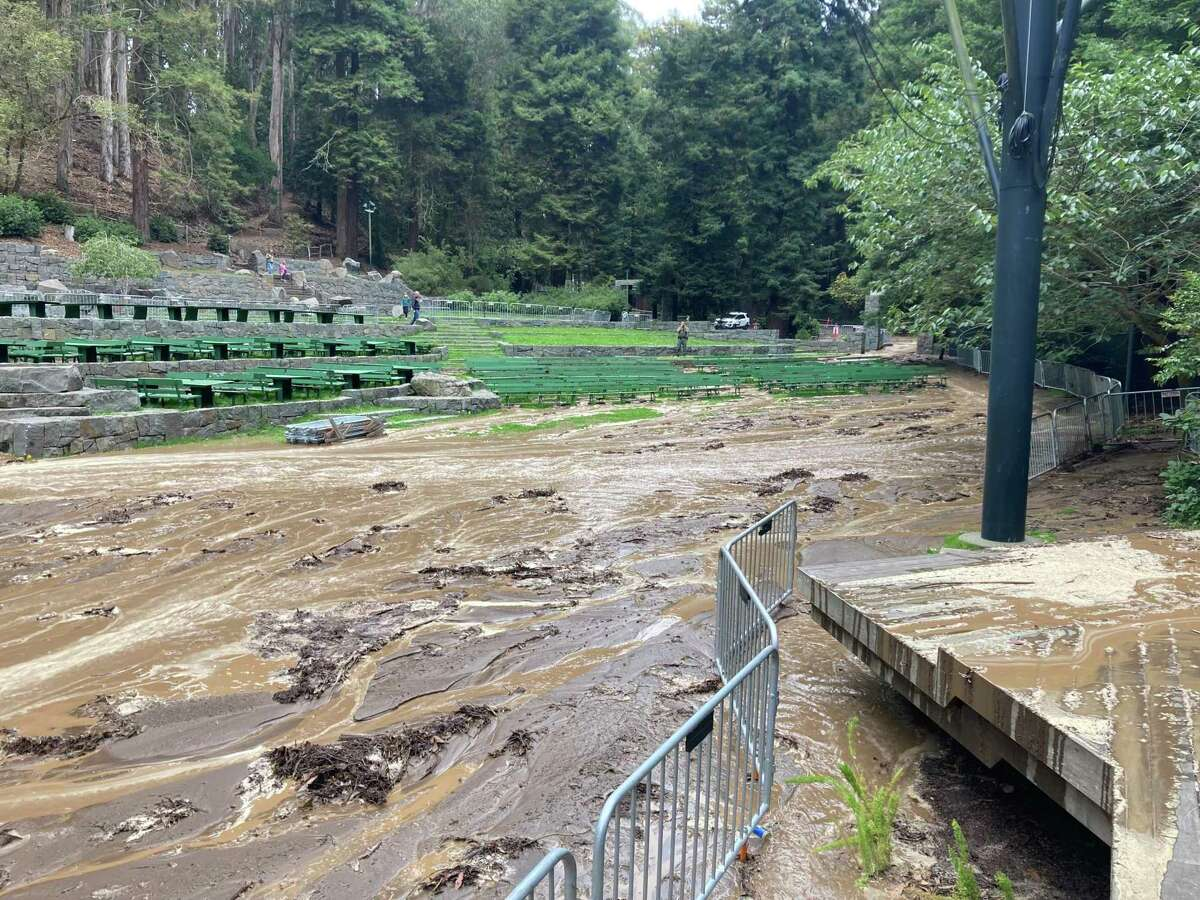 The Stern Grove stage was flooded after a major water main break nearby. The festival's final concert was canceled because of the damage to the park.