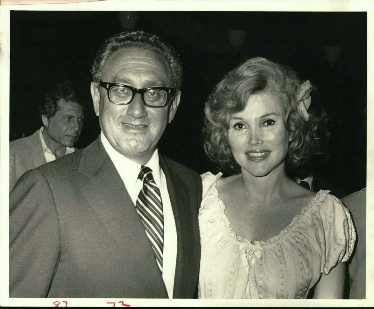Ex-Secretary of State Henry Kissinger, a friend of Joanne King Herring and her husband, Robert R. Herring, accepted their invitation to appear as a guest speaker at a Houston dinner.