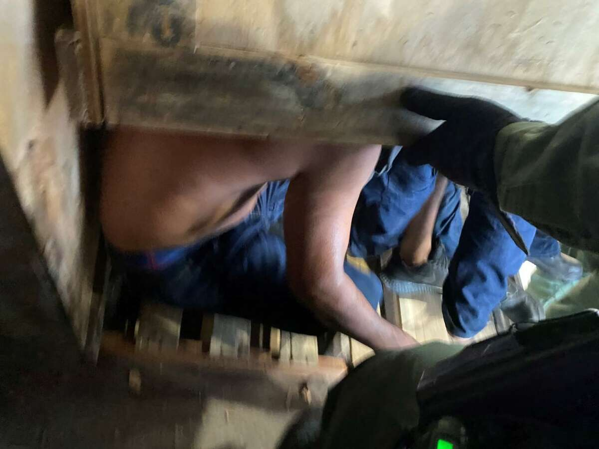 U.S. Border Patrol discovered multiple migrants inside wooden shipping crates that were located inside a tractor-trailer.