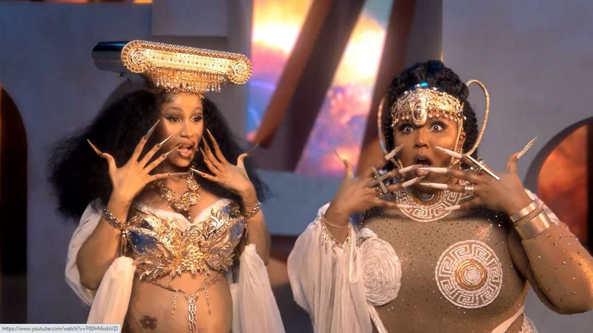 Cardi B, left, and Lizzo address the 'Rumors' on their new single.