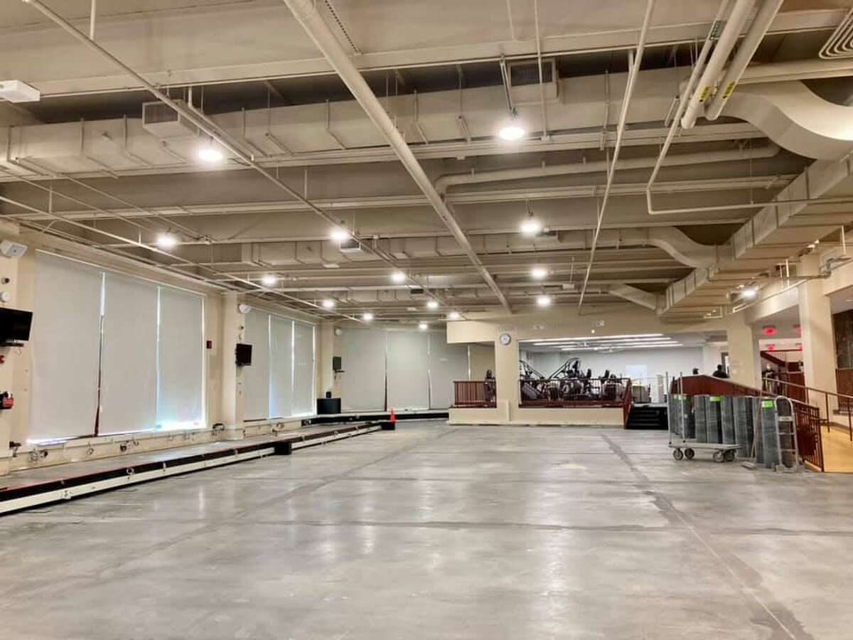 The Westport Weston Family YMCA's Robin Tauck Wellness Center during its 2021 renovation.