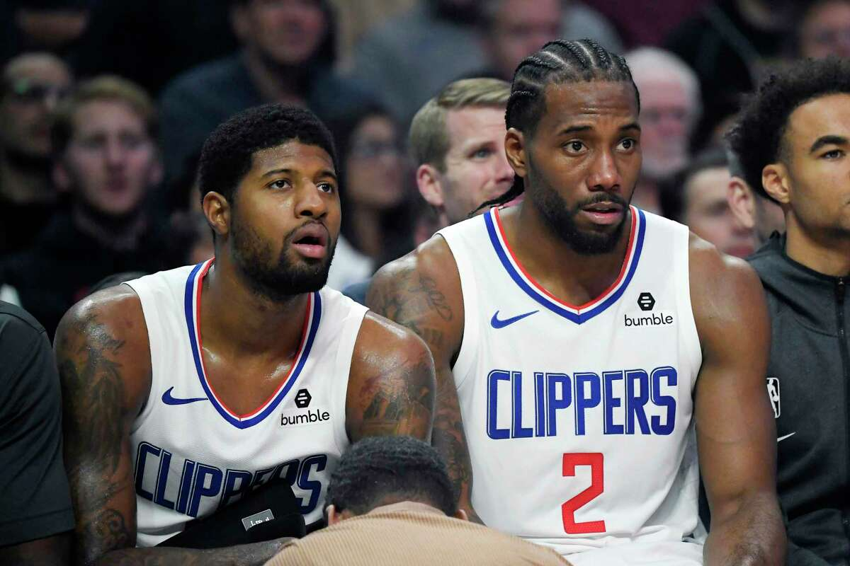 With the status of Kawhi Leonard (2) uncertain because of knee surgery, Paul George and the Clippers could find themelves among the play-in teams in 2021-22.