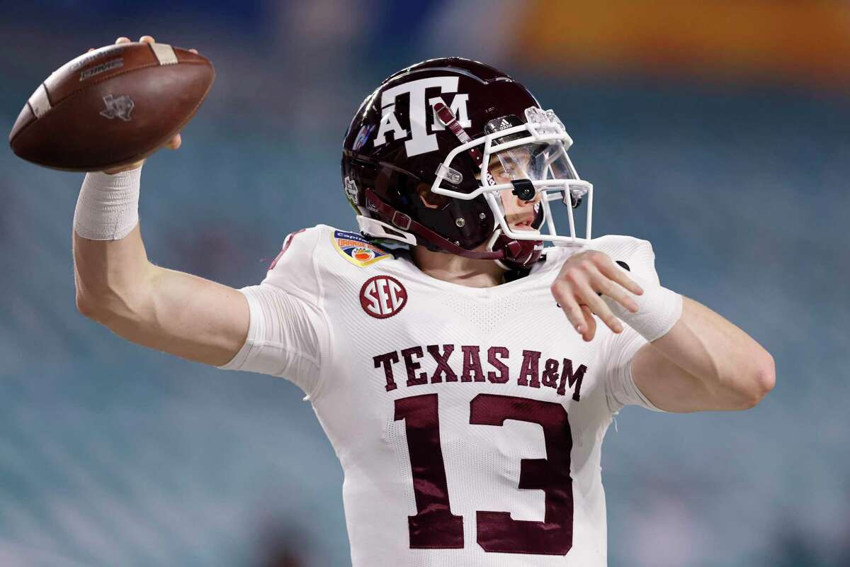 Haynes King played in two games last season as Kellen Mond's backup and will now start his redshirt freshman season as Texas A&M's starting quarterback.