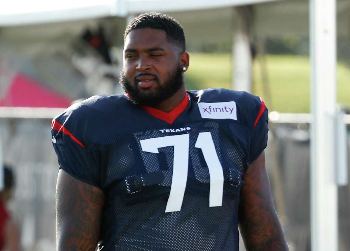 While right tackle holds higher prestige, Texans offensive lineman Tytus Howard isn't taking a shift to left guard as a demotion.