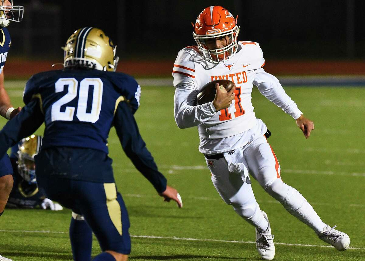 United senior quarterback Sammy Casso passed for 1,097 yards and four touchdowns in the four complete games he played in the 2020 season.