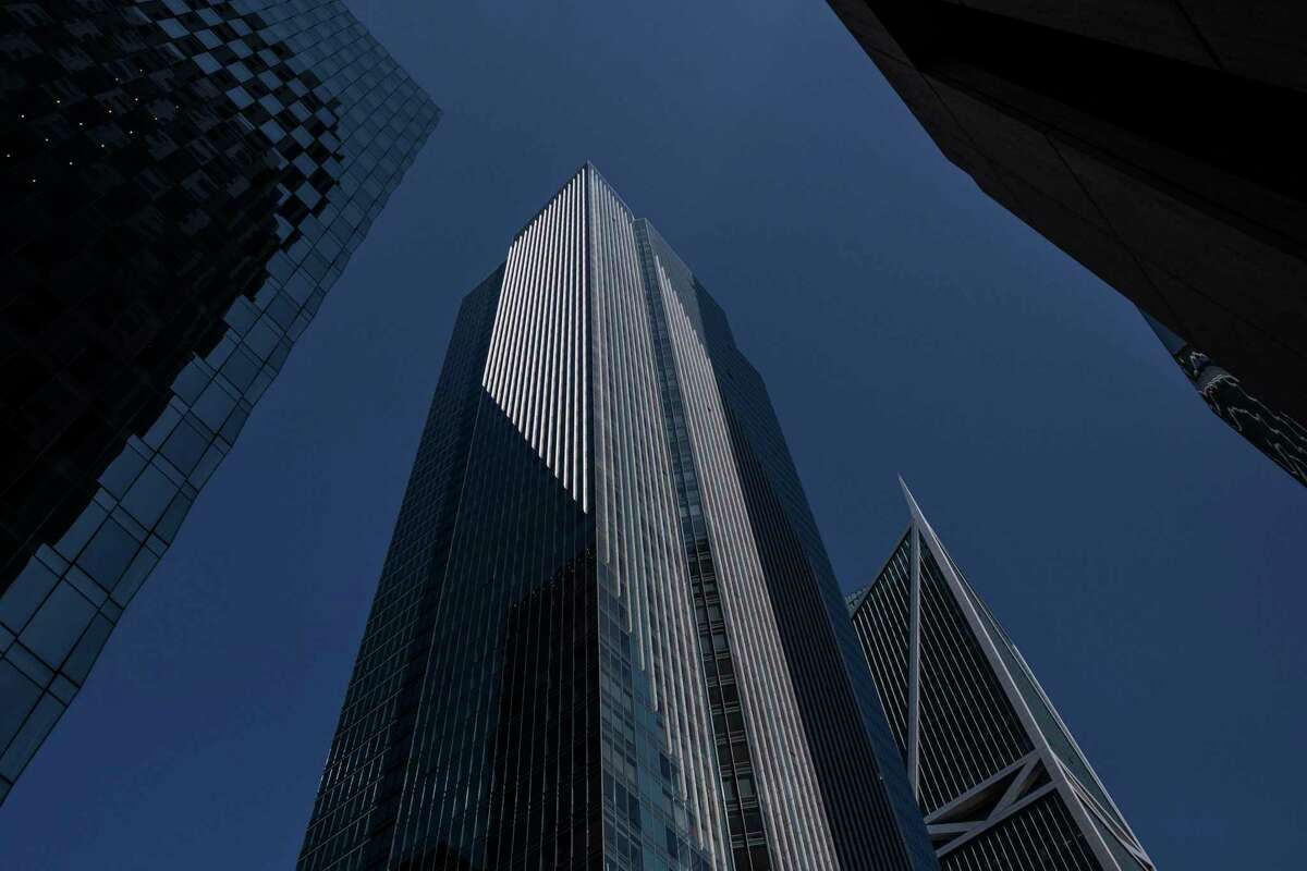The Millennium Tower is seen in San Francisco, California Wednesday, Aug. 25, 2021.