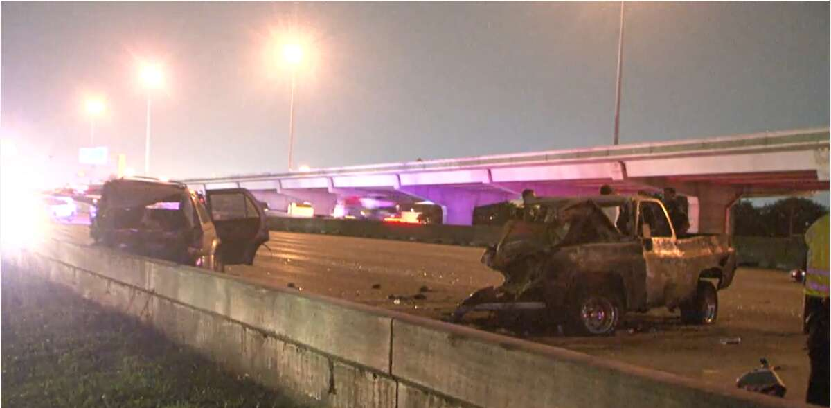 Officials responded to a fatal crash on North Freeway Wednesday night.