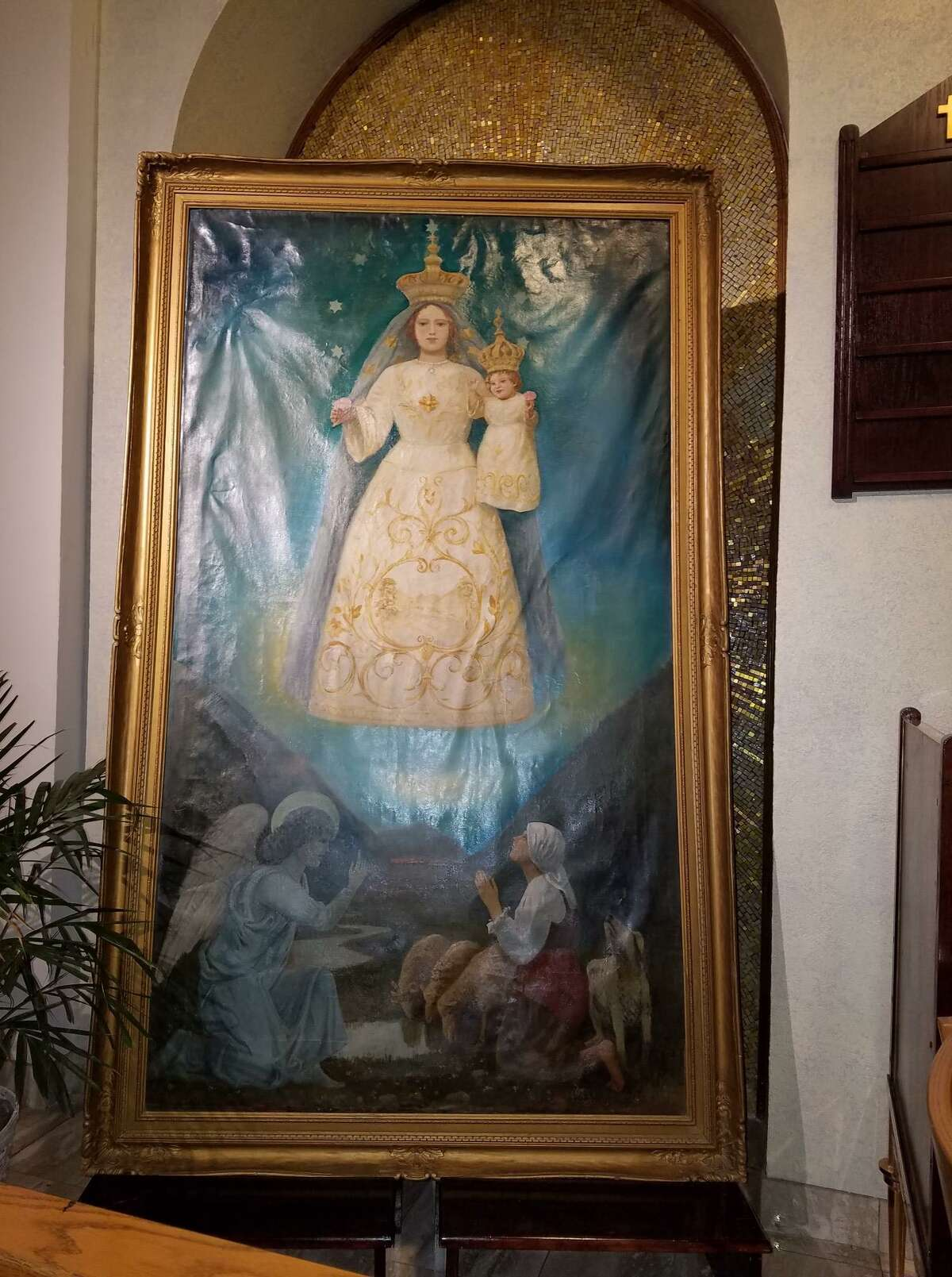 La Madonna di Canneto, a painting owned by a Stamford-Italian social club, has gone missing.