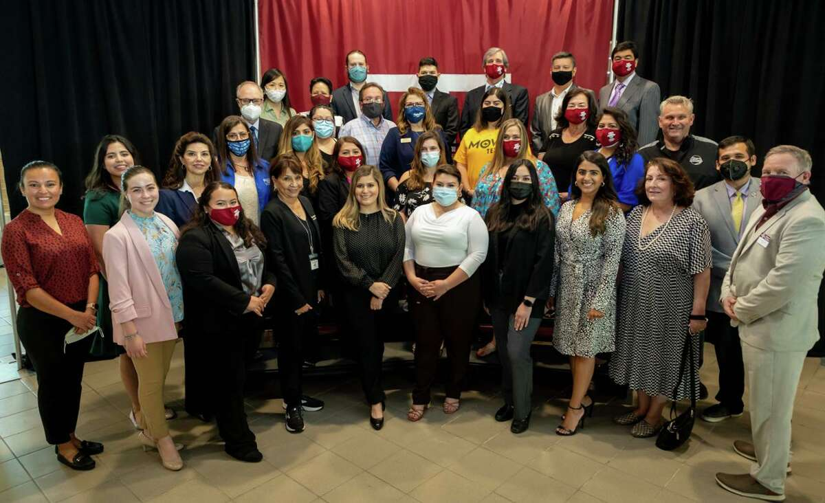 A total of 12 local agencies signed MOA's with TAMIU as part of Partnership TAMIU: Alliance for Good. Pictured in the photo are TAMIU representatives and the various agencies' leaders and coordinators.