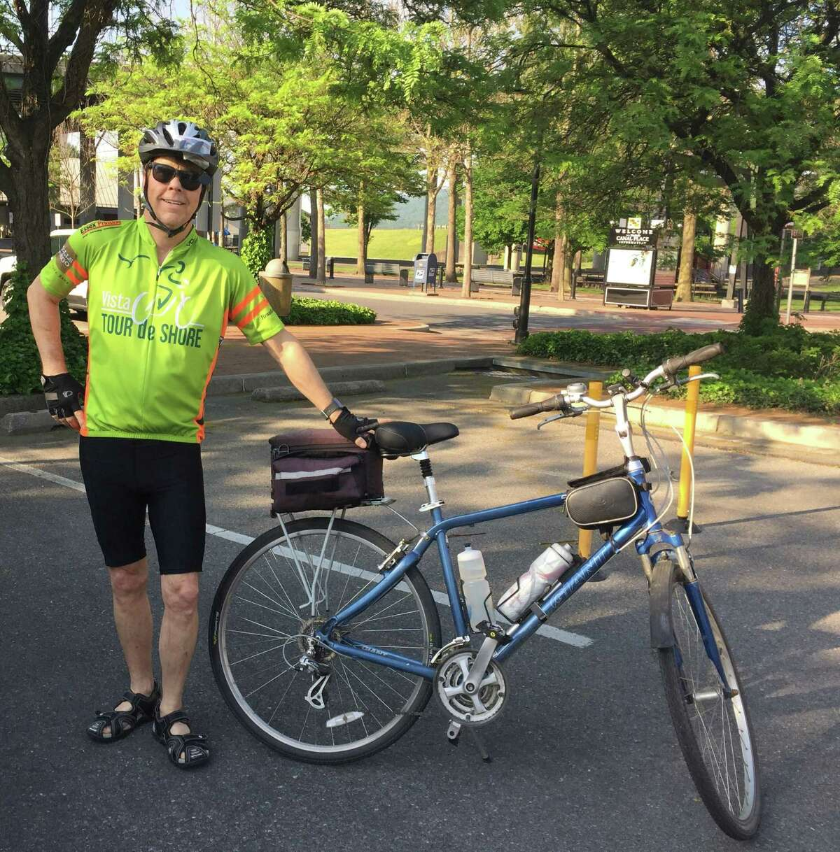 Paul Egan and his wife, Liz, of Clinton, are raising money for cancer research and treatment by participating in the Closer to Free Ride organized by Smilow Cancer Hospital and Yale Cancer Center. Egan's mission is now personal after he received treatment at Smilow for his blood cancer.