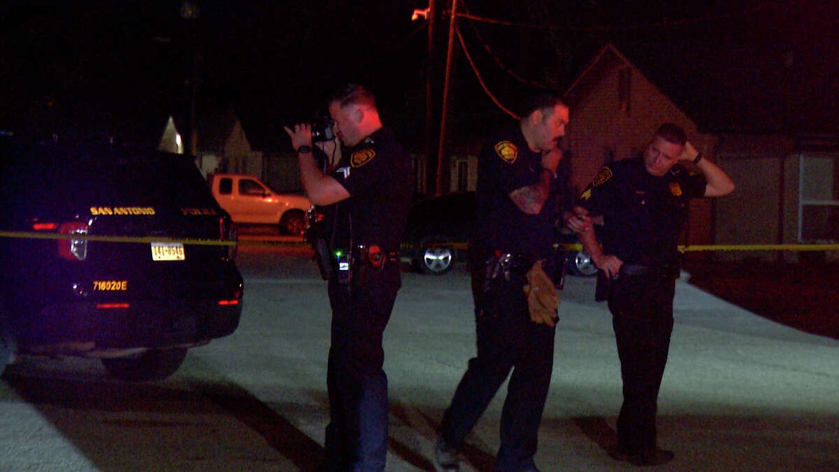 A woman is in critical condition after an unknown man shot her several times while she sat in a parked car, according to the San Antonio Police Department. The man is still at large.