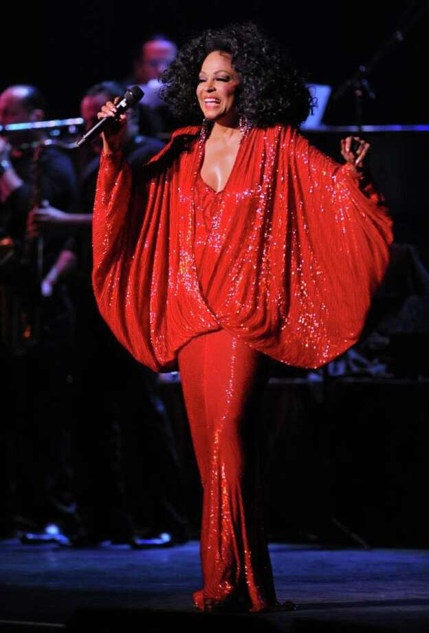 Pop legend Diana Ross sings during a concert at the Palace Theatre in Albany, NY on September 15, 2010.  (Lori Van Buren / Times Union) Photo: Lori Van Buren