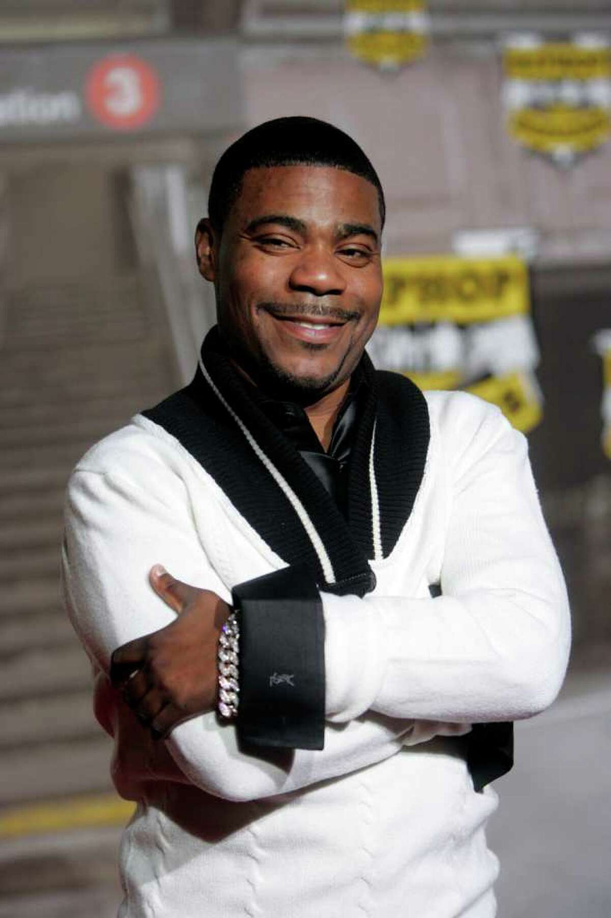 Comedian Tracy Morgan arrives at VH-1 Hip Hop Honors in this Oct. 7, 2006, file photo at the Hammerstein Ballroom in New York. (Gary He / Associated Press file)