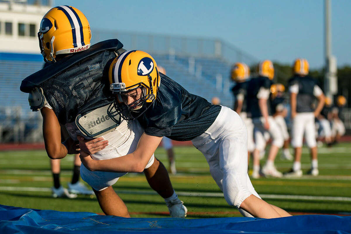 Ledyardfootball practice from August 24, 2021.