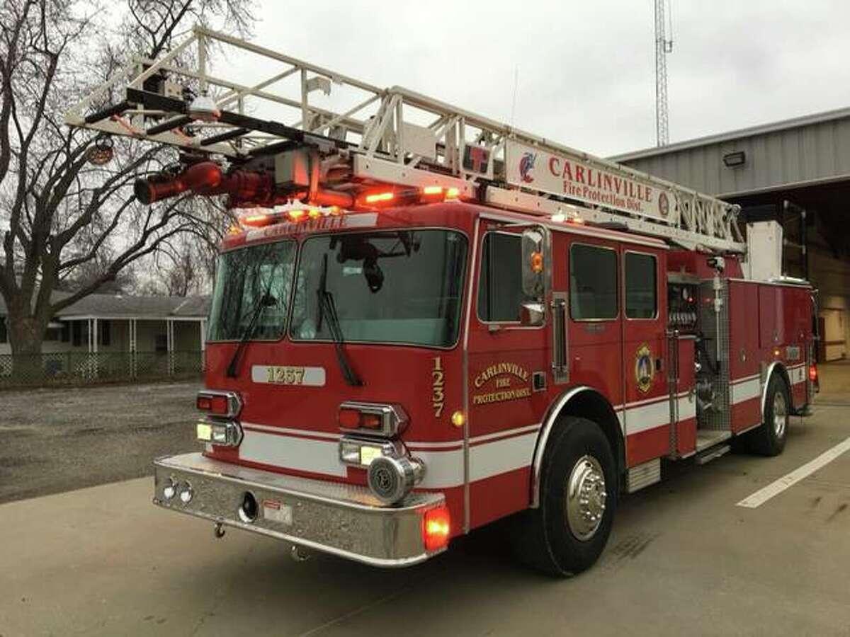 FILE - A shot of a Carlinville Fire Department truck.