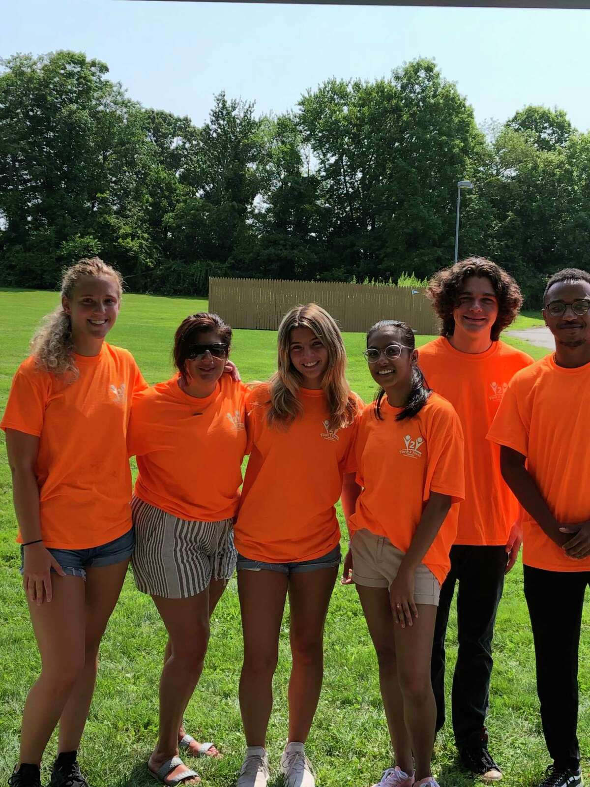 Youth to Youth counselors Julia Jacob, Silvia Rodriguez, Emma Jacob, Neja Jahanna, Danny Connolly and Jostin Cobb visited Mohegan schools summer playground and presented a keep-your-body-safe lesson.
