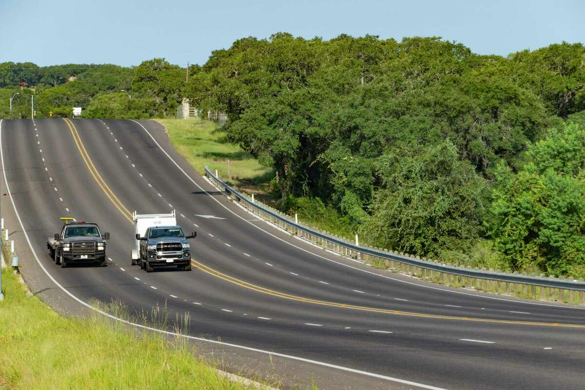 Traffic flows on Highway 46 by Honey Creek Ranch on Thursday, Aug. 26, 2021.